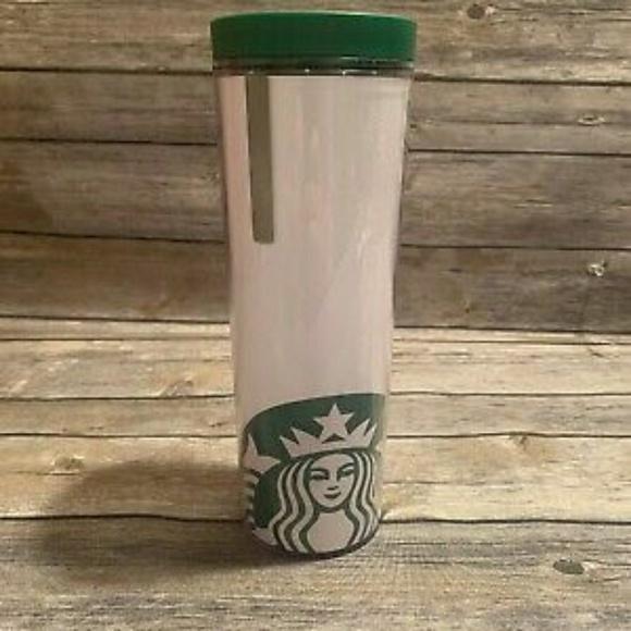 NWT Starbucks cofee white & green logo 16oz